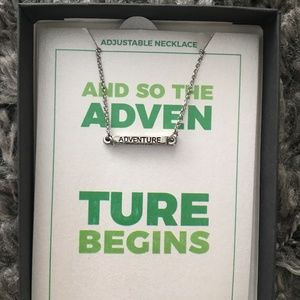 """""""And So the Adventure Begins"""" Necklace"""